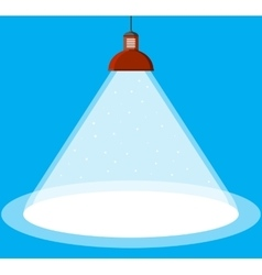 illuminated ceiling lamp vector image vector image