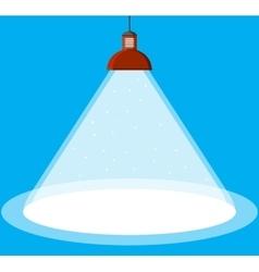 illuminated ceiling lamp vector image