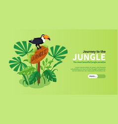 jungle isometric horizontal banner vector image