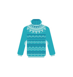 Knitted sweater with high vector