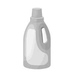 Laundry detergent icon in monochrome style vector
