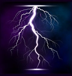 Lightning storm strike realistic 3d light lighting vector