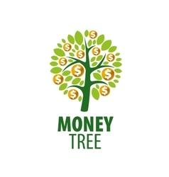 logo money tree vector image