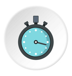 Metallic stopwatch icon circle vector