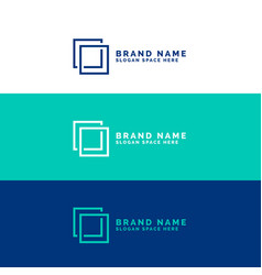 Minimal square logo concept background vector