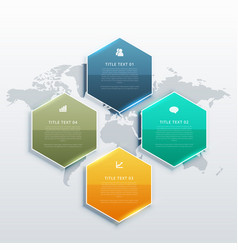 modern four steps infographic design banners vector image