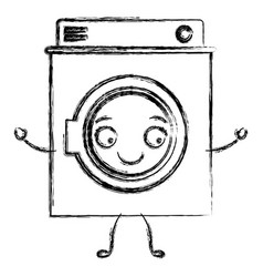 monochrome blurred cartoon silhouette of washing vector image