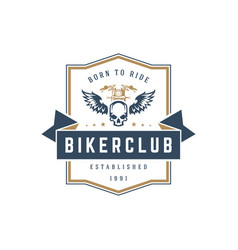Motorcycle club logo template design vector