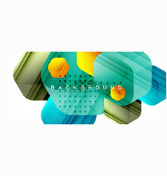 Multicolored hexagons geometric abstract vector