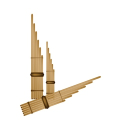 Musical Pan Flute Background vector