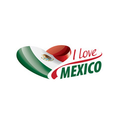 National flag mexico in shape a vector