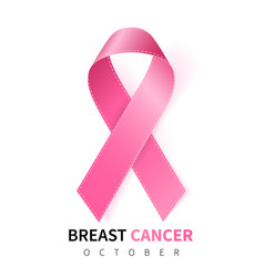 October breast cancer awareness month vector