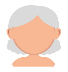 Old woman shirtless avatar character vector