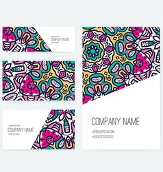 Ornamental Business Set Dedign vector image
