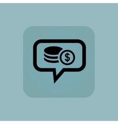 Pale blue dollar rouleau message vector