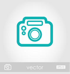 Photo camera outline icon summer vacation vector