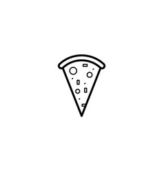 pizza food icon vector image