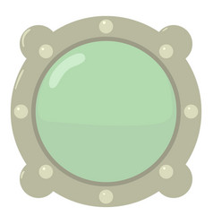 porthole icon cartoon style vector image