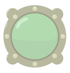 Porthole icon cartoon style vector