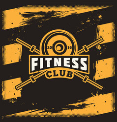 Poster for a fitness center in the grunge style vector