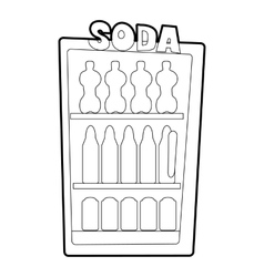 Refrigeration icon outline style vector