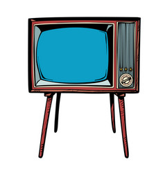 Retro tv television news and programs vector