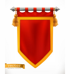 Royal flag 3d banner vector