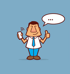 salesman cartoon vector image