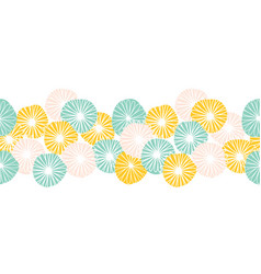 Seamless abstract flowers border bold vector