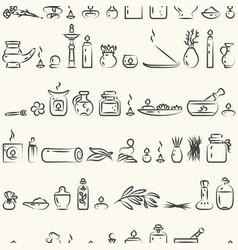 Seamless pattern -aromatherapy supplies vector