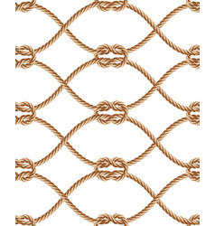 seamless pattern with brown twisted ropes vector image