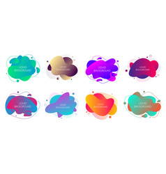 set 8 abstract modern graphic liquid elements vector image