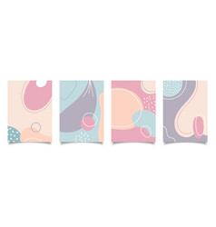 set abstract creative background hand drawn vector image