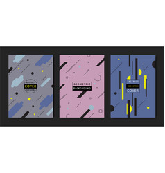 set covers with flat geometric pattern vector image