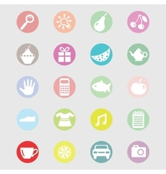 Set of icons for store or market vector image