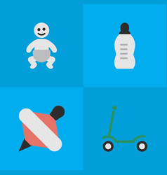 Set simple infant icons vector