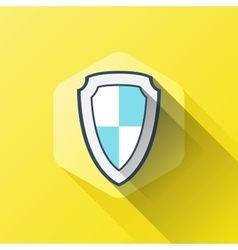 simple of shield or security icon in vector image