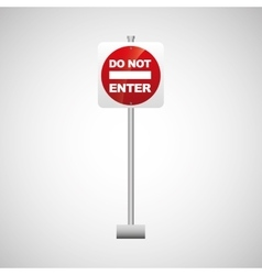 Sing red do not enter icon design vector