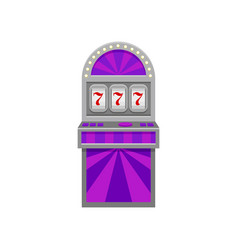 slot machine with lucky symbol 777 winner sign vector image