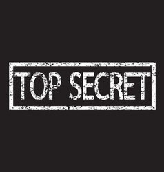 stamp text top secret vector image