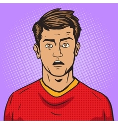 Surprised man pop art style vector image