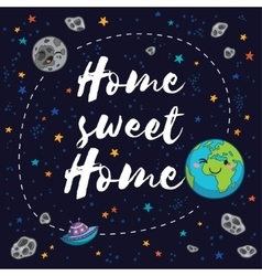 Sweet home Fantastic childish background in vector image