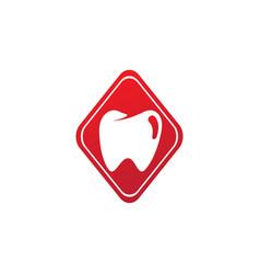 teeth care symbol in rhombus shape vector image