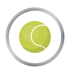 Tennis ball icon in cartoon style for web vector