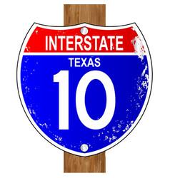 Texas interstate sign vector