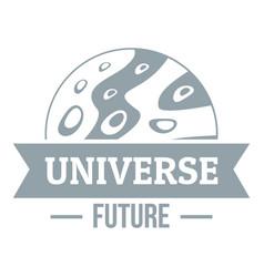 Universe future logo simple gray style vector