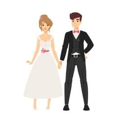 Wedding couple people vector