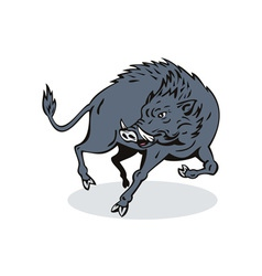 Wild Hog Jumping vector