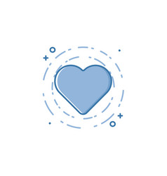 business of blue colors heart vector image vector image