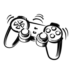 joystick vector image vector image